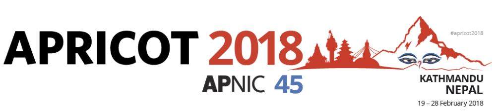 APRICOT 2018 Kathmandu